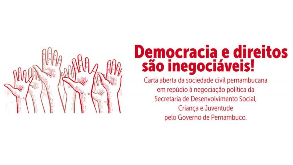 Sociedade repudia entrega da Secretaria de Desenvolvimento Social de Pernambuco ao Partido Progressista