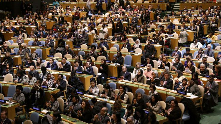 Debate na ONU sobre a situação das meninas diante do HIV e da Aids e protesto pelo assassinato de Marielle Franco