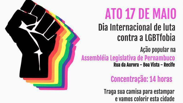 """""""LGBTFobia dói, machuca e mata!"""" – Entidades protestam no Dia Internacional de Luta Contra a LBGTFobia"""