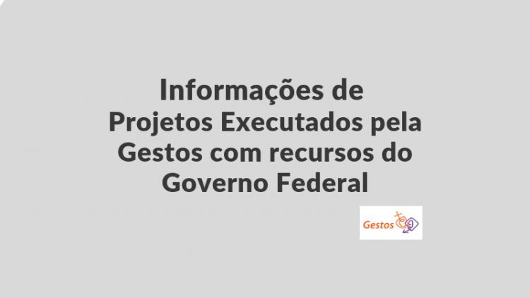 Informações de Projetos Executados com Recursos do Governo Federal / Parceiros de Implementação Referências ED0296/2019 e ED00311/2019