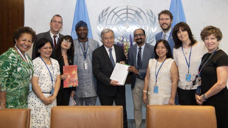 Secretário-geral da ONU recebe documento sobre situação da Agenda 2030 no Brasil