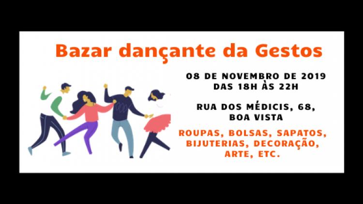 Gestos faz bazar dançante nesta sexta (08/11) para arrecadar recursos