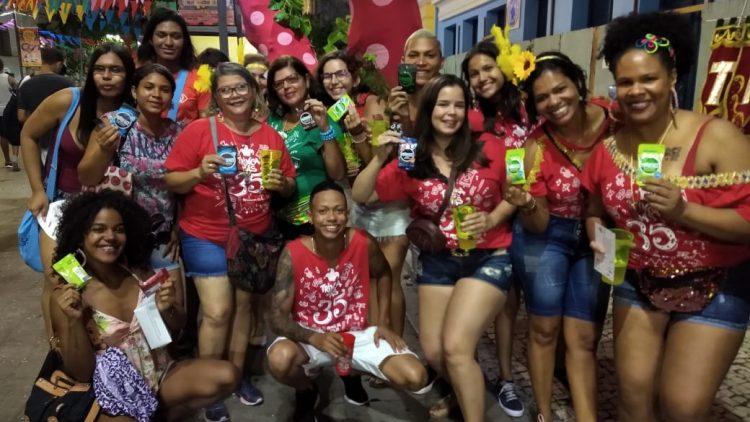 Gestos distribuiu mais de 5 mil preservativos nas ações de Carnaval no Recife